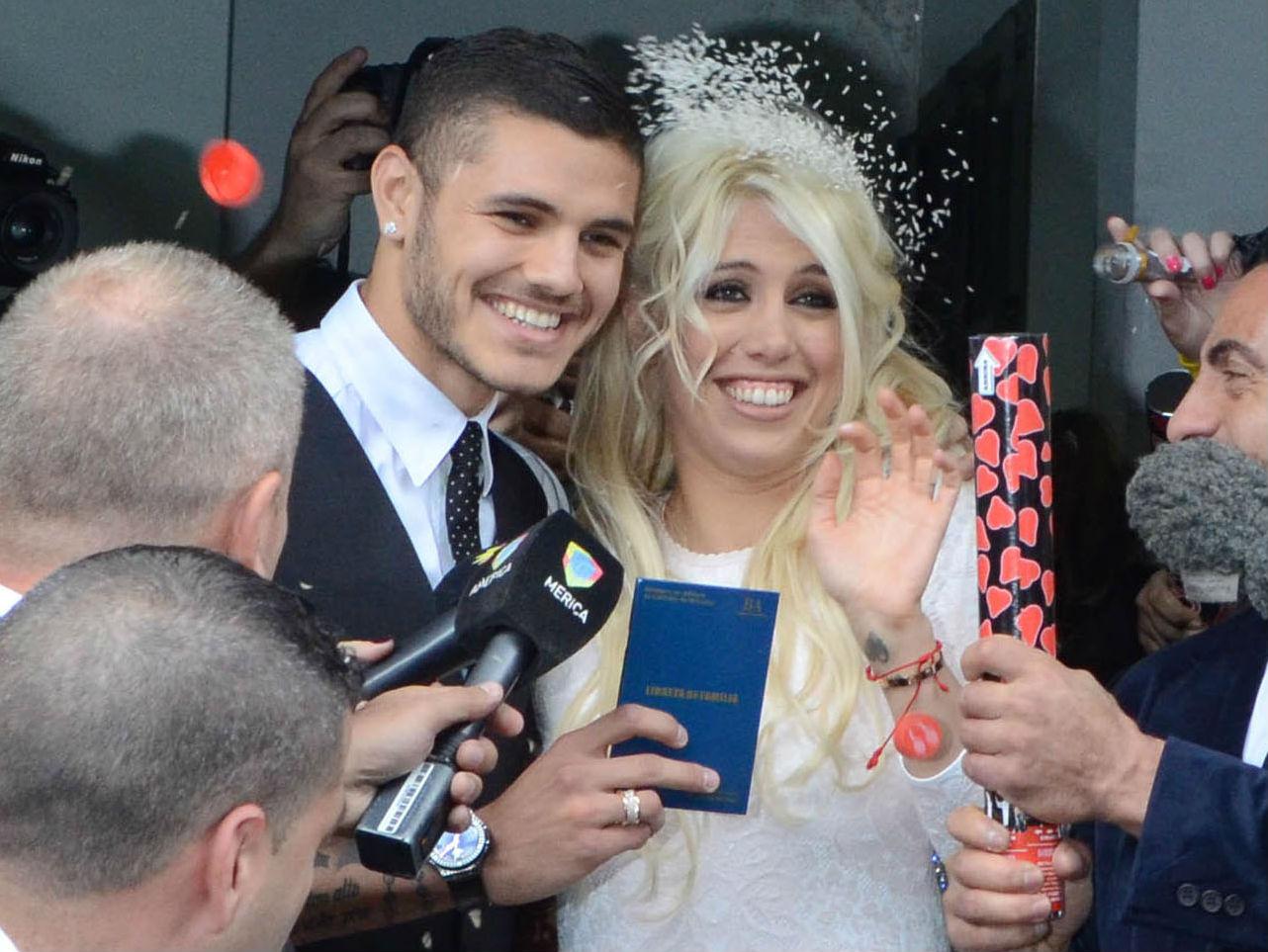 Mauro Icardi menikahi Wanda Nara